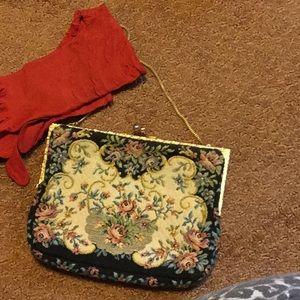 Tapestry vintage purse